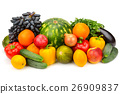 fruits and vegetables isolated on white background 26909837