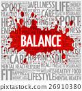 BALANCE word cloud, fitness, sport 26910380