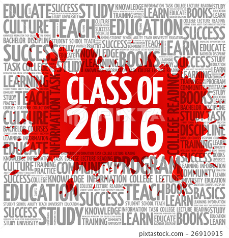 CLASS OF 2016 word cloud, education concept 26910915