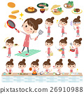 Ballet Bun hair Apron mom cooking 26910988