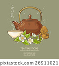 jasmine tea vector illustration 26911021