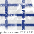 Set of six flags Finland with old texture. Vector 26912231