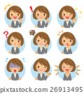 Business woman expression icon 26913495