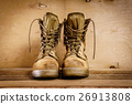 old military boots on the table 26913808