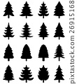 Christmas tree icons 26915168