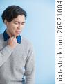 man feel sore throat 26921004