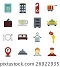 hotel, icons, set 26922935