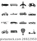 Transportation icons set, simple style 26922950