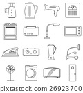 Household appliances icons set, outline style 26923700