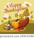 Thanksgiving Day concept, cartoon style 26924388