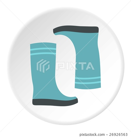 Boots icon, flat style 26926563