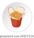 Pasta icon, cartoon style 26927329
