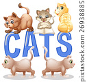 Font design with word cats 26938885