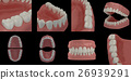 3D render teeth on black background 26939291