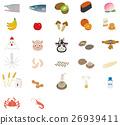 矢量 鮑魚 魷魚 26939411