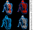 3D rendering skeleton of the man with the backbone 26939751