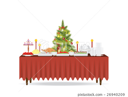 Christmas food on the table Decorating 26940209