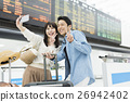airport, heterosexual, couple 26942402