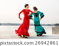 Flamenco dancers Spain womans in long dress 26942861