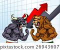 Bears Versus Bulls Stock Market Concept 26943607