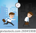 Hurrying to work and Exhausted Businessman 26945908