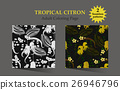 Seamless pattern with tropical plants 26946796