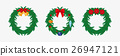 Christmas wreath. Flat. 26947121