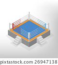 Boxing ring is an isometric, vector illustration. 26947138
