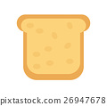 Slice of  bread icon. Flat design, isolated on 26947678