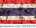 干裂土壤上的泰国国旗特写纹理背景(高分辨率 3D CG 渲染∕着色插图)饥荒干旱自然灾害 26948149