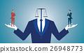 Businessman confused between being good or bad 26948773