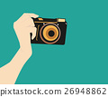 Camera phones. Camera retro style. Vector flat 26948862
