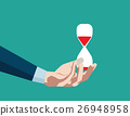 Hourglass in hand. Concept business illustration 26948958