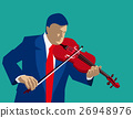 Playing violin. Concept Business illustration 26948976