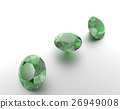 Background with green gemstones. 3D illustration 26949008