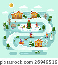 Winter village landscape 26949519