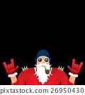 vector biker santa claus with smoking pipe. 26950430