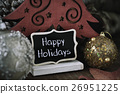 christmas balls and text happy holidays 26951225