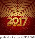 snowflake, christmas, golden 26951260