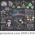Venice Italy sketch elements Hand drawn set vector 26951450