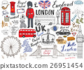 London city doodles set. Hand drawn sketch vector 26951454