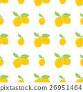 Fruit background. Seamless lemon pattern vector 26951464