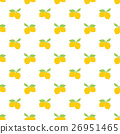 Fruit background. Seamless lemon pattern vector 26951465