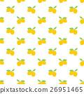 Fruit background. Seamless lemon pattern vector 26951465