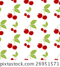 Fruit background. Seamless cherry pattern 26951571
