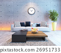 living room interior design with under light  26951733