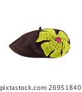 brown french beret made from felt 26951840