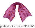 scarf mande from purple dotted mohair fabric 26951865