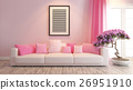 pink living room or saloon interior design 26951910