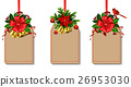Christmas decoration with bow 26953030